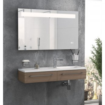 Cali LED Back-Lit Bathroom Mirror 600mm H x 1000mm W with Bluetooth and De-Mist