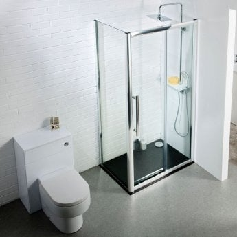 Cali Cass Eight Sliding Door Shower Enclosure 1400mm x 700mm - 8mm Glass