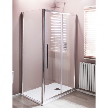 Cali Cass Eight Sliding Door Shower Enclosure 1000mm x 760mm - 8mm Glass
