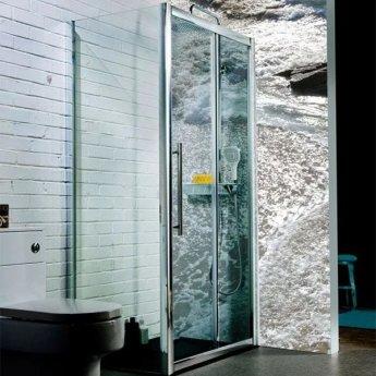 Cali Cass Eight Sliding Door Shower Enclosure 1200mm x 760mm - 8mm Glass
