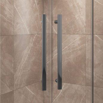 Cali Cass Eight Offset Quadrant Shower Enclosure - 1200mm x 900mm - 8mm Glass