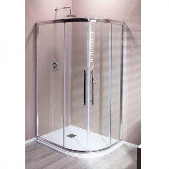 Cali Cass Eight Offset Quadrant Shower Enclosure - 900mm x 760mm - 8mm Glass