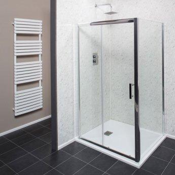 Cali Cass Six Sliding Shower Door 1200mm Wide - 6mm Glass