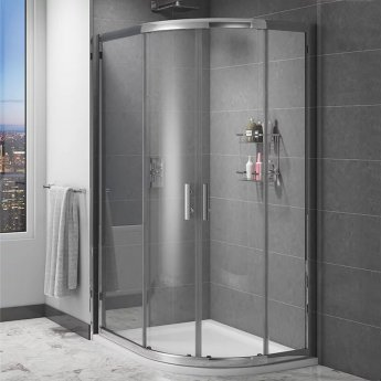 Cali Cass Six Offset Quadrant Shower Enclosure 900mm x 760mm - 6mm Glass