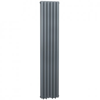 Cali Celsius Double Panel Designer Vertical Radiator - 1800mm High x 354mm Wide - Anthracite