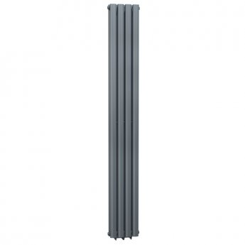 Cali Celsius Double Panel Designer Vertical Radiator - 1800mm High x 236mm Wide - Anthracite