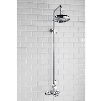 Cali Traditional Dual Exposed Mixer Shower with Fixed Head