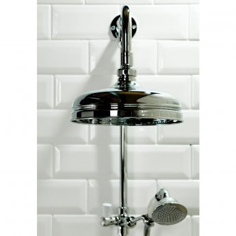 Cali Traditional Triple Exposed Mixer Shower with Shower Kit + Fixed Head
