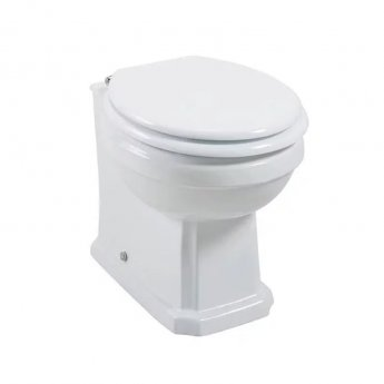 Cali Cromford Traditional Back to Wall Toilet - Quick Release Soft Close Seat