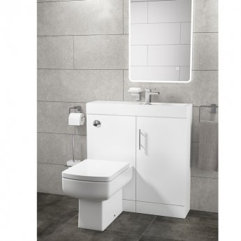 Cali Cube Plus Wall Hung Basin 800mm Wide - 1 Tap Hole