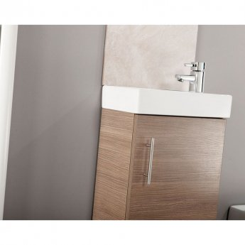 Cali Cube Vanity Unit with Basin - 400mm Wide - Medium Oak