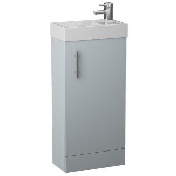 Cali Cube 1-Door Floor Standing Vanity Unit with Basin 400mm Wide - French Grey