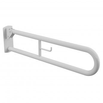 Cali Hinged Support Grab Rail 850mm Length - White