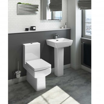 Cali Daisy Lou Basin with Full Pedestal - 520mm Wide - 1 Tap Hole