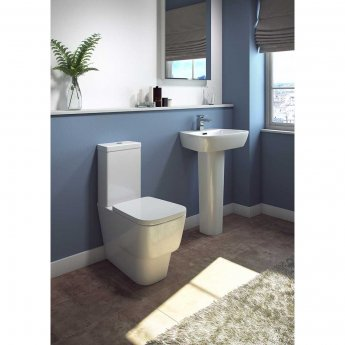 Cali Dearne Basin with Full Pedestal 610mm Wide - 1 Tap Hole