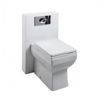 Cali Dice PolyMarble WC Shroud Unit with Toilet Pan and Seat + Cistern - Gloss White
