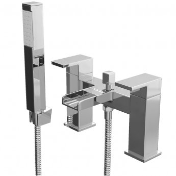 Cali Dunk Waterfall Bath Shower Mixer Tap - Deck Mounted - Chrome