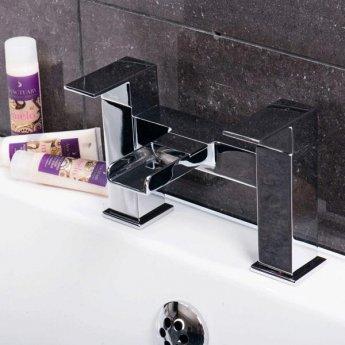Cali Dunk Waterfall Bath Filler Tap - Deck Mounted - Chrome
