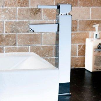 Cali Emperor High Rise Mono Basin Mixer Tap Deck Mounted - Chrome