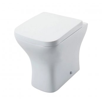 Cali Fair Back to Wall Toilet Pan with Soft Close Quick Release Wrapover Seat
