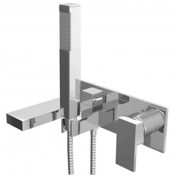 Cali Form Wall Mounted Bath Shower Mixer with Handset - Chrome