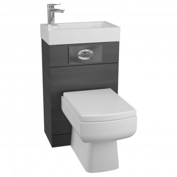 Cali Futura WC Basin Pack with Daisy Lou Toilet Pan and Seat - Black Ash