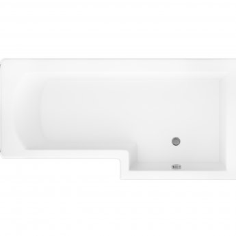 Cali Halle L-Shaped Shower Bath 1700mm x 700mm/850mm Right Handed