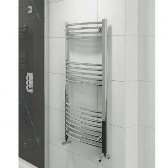 Cali Hayle Curved Heated Towel Rail 1600mm H x 600mm W Chrome