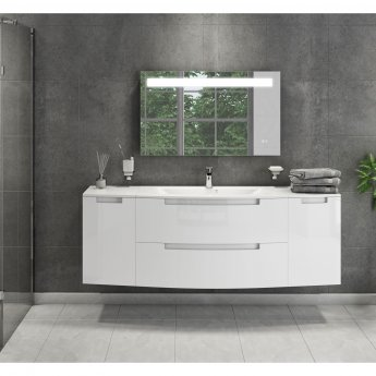 Cali Henley Left Handed Side Cabinet 300mm Wide - Gloss White