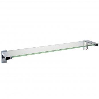 Cali Holly Glass Shelf 600mm Wide - Chrome