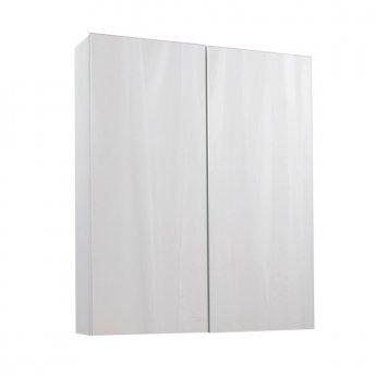 Cali Idon 2 Doors Wall Hung Mirror Cabinet - 600mm Wide - White