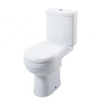 Cali Ivo Close Coupled Toilet - Push Button Cistern - Soft Close Seat
