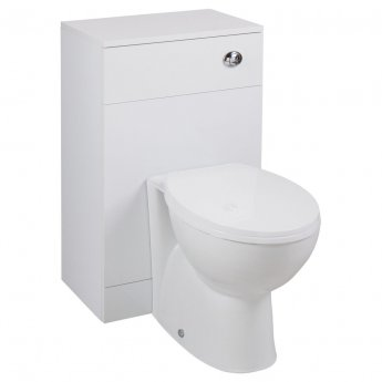 Cali Kass Back to Wall WC Unit - 600mm Wide x 300mm Deep - Gloss White