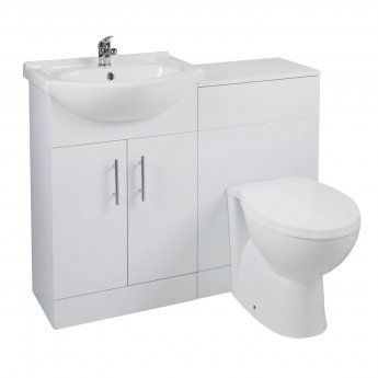 Cali Kass Churwell Combination Unit with Left Handed Basin - 1025mm Wide - Gloss White