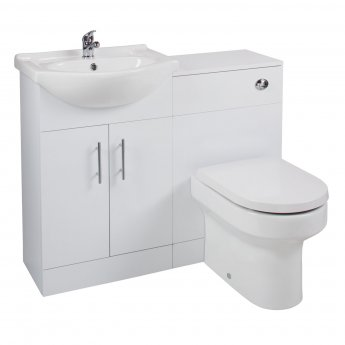 Cali Kass Montego Combination Unit with Left Handed Basin - 1025mm Wide - Gloss White