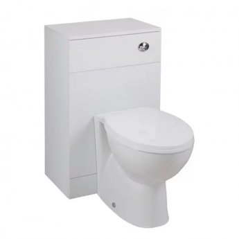 Cali Kass Churwell WC Unit with Toilet Pan and Seat + Cistern - 820mm Depth - Gloss White
