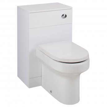 Cali Kass Montego WC Unit with Toilet Pan and Seat + Cistern - 820mm Depth - Gloss White