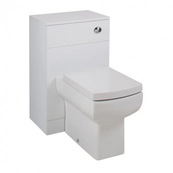 Cali Kass Daisy lau WC Unit with Toilet Pan and Seat + Cistern - 810mm Depth - Gloss White
