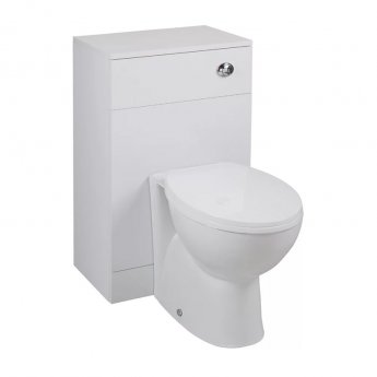 Cali Kass Churwell WC Unit with Toilet Pan and Seat + Cistern - 850mm Depth - Gloss White