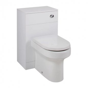 Cali Kass Montego WC Unit with Toilet Pan and Seat + Cistern - 850mm Depth - Gloss White
