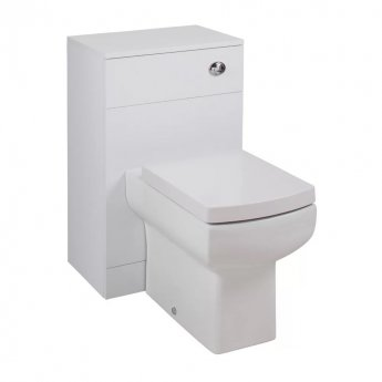 Cali Kass Daisy lau WC Unit with Toilet Pan and Seat + Cistern - 840mm Depth - Gloss White