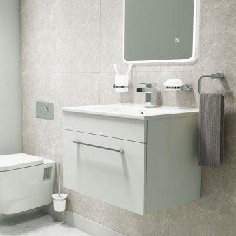 Cali Lilly Bathroom Toilet Paper Holder - Chrome