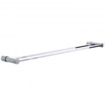 Cali Lilly Towel Bar Double Rail - Chrome