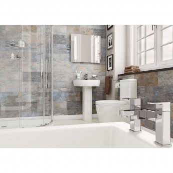 Cali Loxley Basin with Full Pedestal 560mm Wide - 1 Tap Hole