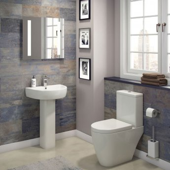 Cali Loxley Close Coupled Toilet - Quick Release Seat