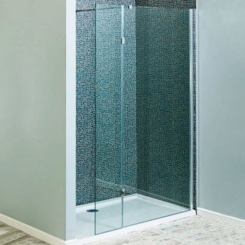 Cali Marna Easy Clean Wet Room Glass Single Panel Only 1400mm Wide - 8mm Glass