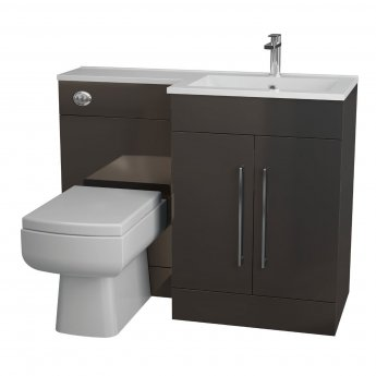 Cali Maze L Shaped Combination Unit with RH Thin Edge Basin - 1090mm Wide - Anthracite