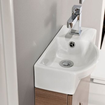 Cali Mini 1-Door Vanity Unit with Basin 400mm Wide - Medium Oak