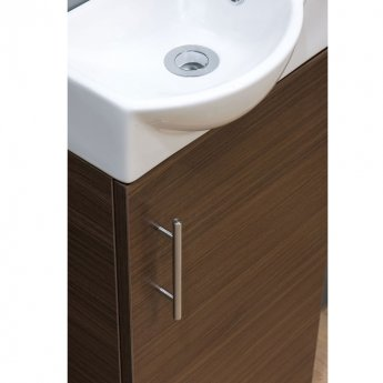 Cali Mini 1-Door Vanity Unit with Basin 400mm Wide - Walnut