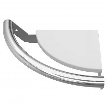 Cali Corner Shelf with Integrated Grab Rail - Chrome